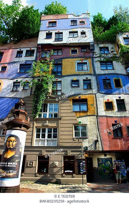 house of Hundertwasser, Austria, Vienna