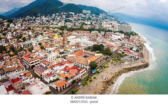 Drone photo - Downtown Puerto Vallarta, Mexico