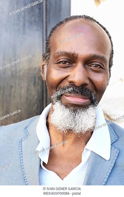 Portrait of smiling bearded man