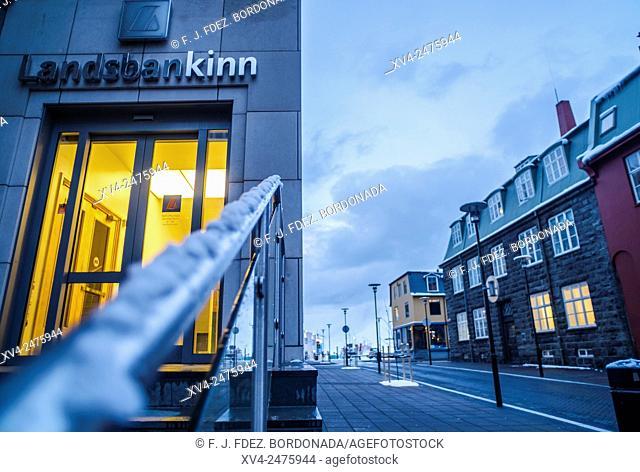 Landsbankinn building, Downtown Reykjavik, Iceland