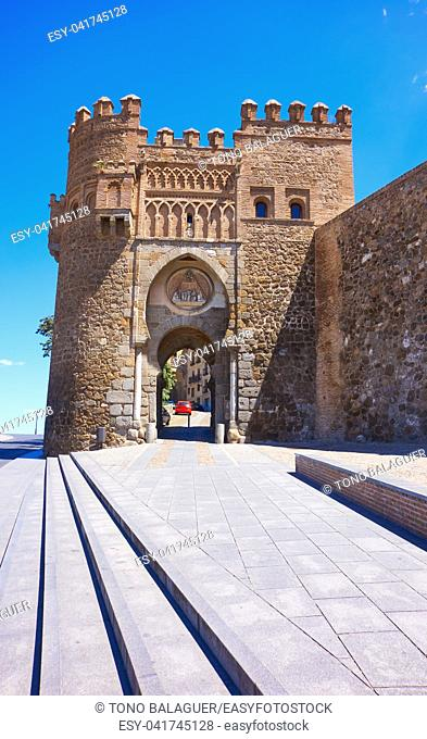 Toledo Puerta del Sol door in Castile La Mancha of Spain