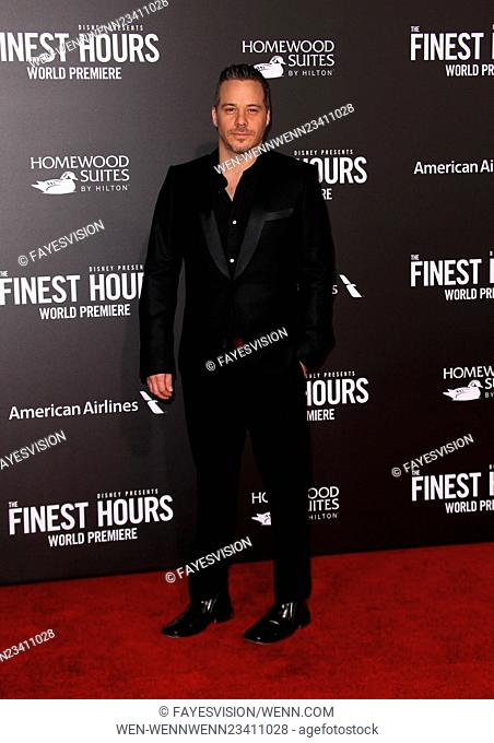 World premiere of 'The Finest Hours' held at the TCL Chinese Theatre in Hollywood - Arrivals Featuring: Michael Raymond-James Where: Los Angeles, California