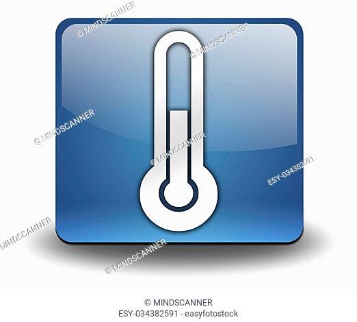 Icon, Button, Pictogram with Temperature symbol
