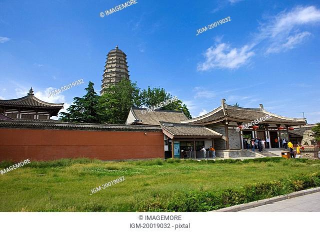 Asia, China, Shanxi, Bao-ji City, Famen Temple, Dagoba