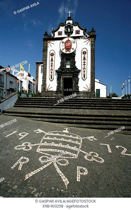 Sao Pedro Saint Peter church, in the town of Vila Franca do Campo  Sao Miguel island, Azores, Portugal
