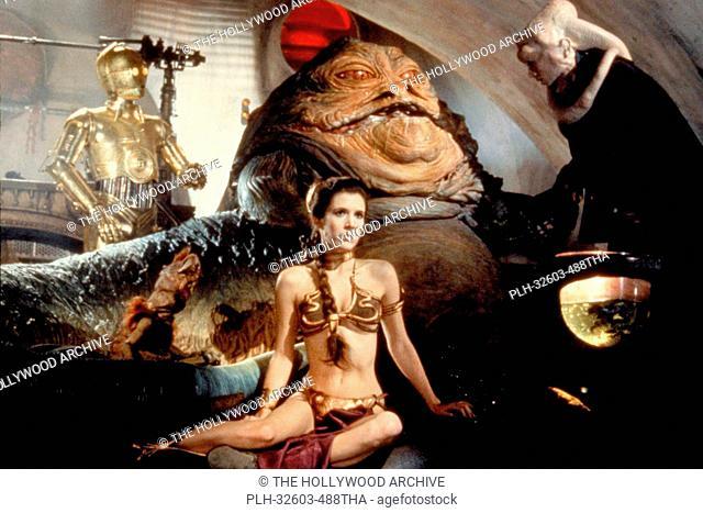 C-3PO, Jabba the Hutt, and Princess Leia in Star Wars: Episode VI: Return of the Jedi (1983)