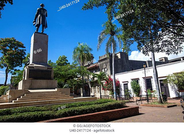 Dominican Republic, Santo Domingo, staue of Juan Pablo Duarte