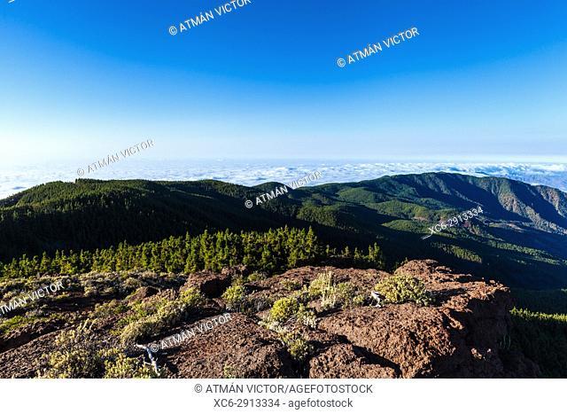 panoramic view of Güimar valley in Tenerife island