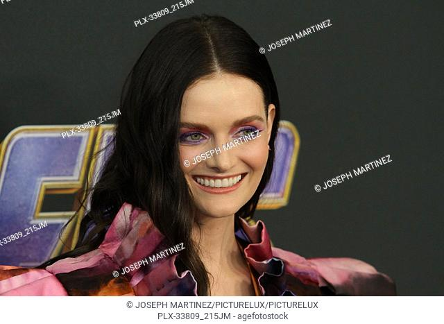 """Lydia Hearst at The World Premiere of Marvel Studios' """"""""Avengers: Endgame"""""""" held at the Los Angeles Convention Center, Los Angeles, CA, April 22, 2019"""
