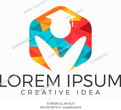 Institutional and educational vector logo design
