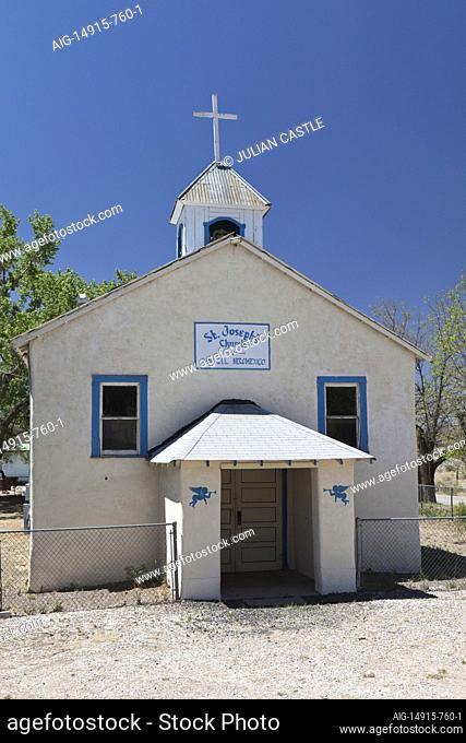 St. Joseph's church on Route 66, San Fidel, New Mexico, USA
