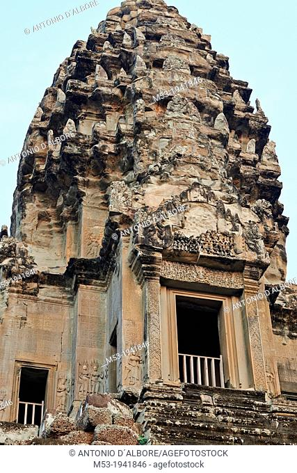 The Central Towers at Angkor Wat Temple. Siem Reap. Cambodia