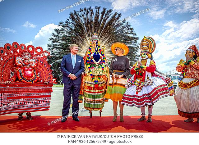 King Willem-Alexander and Queen Maxima of The Netherlands arrive at the airport of Kochi in India, 17 October 2019. The King and Queen of The Netherlands are in...