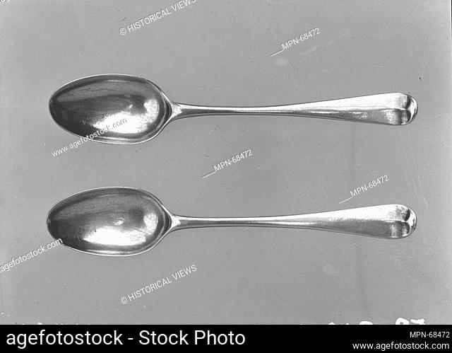 Tea Spoon. Maker: Myer Myers (1723-1795); Date: 1745-60; Geography: Made in New York, New York, United States; Culture: American; Medium: Silver; Dimensions: L