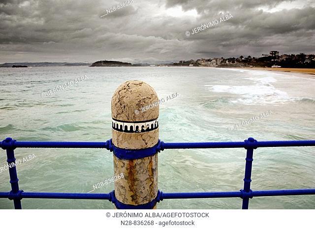 Sardinero Beach in Santander Cantabria Spain