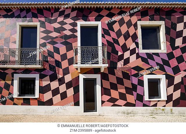 Colorful building close to municipal market, Lagos, Algarve, Portugal, Europa