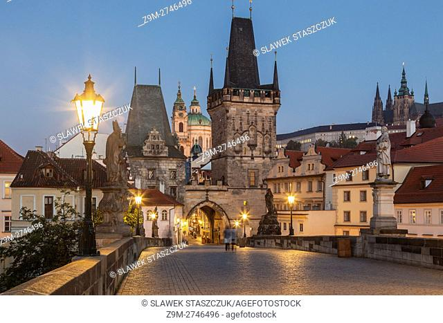 Dawn at Lesser Town Towers, Prague, Czech Republic