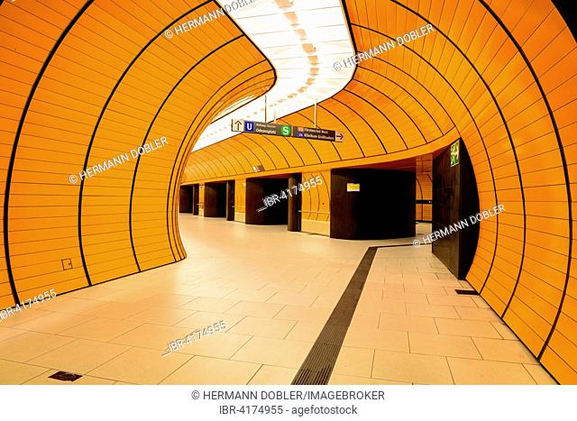 Metro Station Marienplatz, Munich, Bavaria, Germany