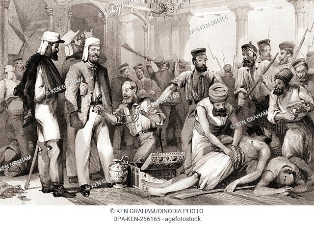 Times Correspondent looking at sacking of Kaiser Bach capture of Lucknow, India, Asia