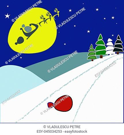 Ho Ho Ho! Santa Claus lost the bag of gifts