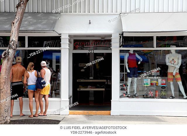 Tourists enjoying Key West, Florida, USA
