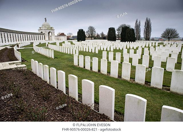 Tyne Cot Commonwealth War Graves Cemetery and Memorial to the Missing, Commonwealth War Graves Commission burial ground for dead of First World War