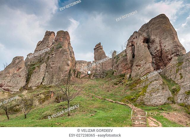 Belogradchik fortress in Bulgaria