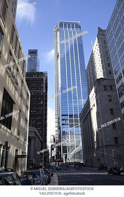 Three World Trade Center Viewed from Church Street in New York - USA