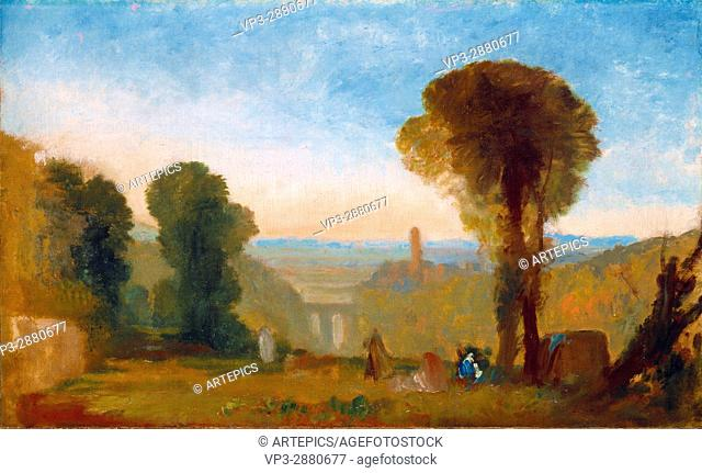 Joseph Mallord William Turner - Italian Landscape with Bridge and Tower