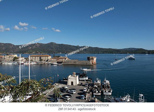 Porttoferraio. The port during the summertime