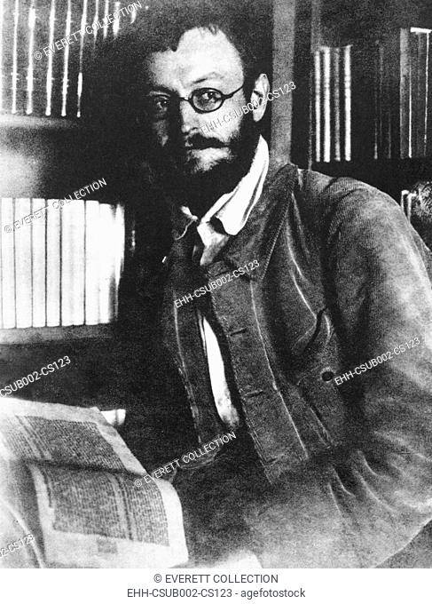 German writer Herman Hesse in 1909, German-Swiss writer and poet. He received the 1946 Nobel Prize in Literature. (CSU-2015-9-964)