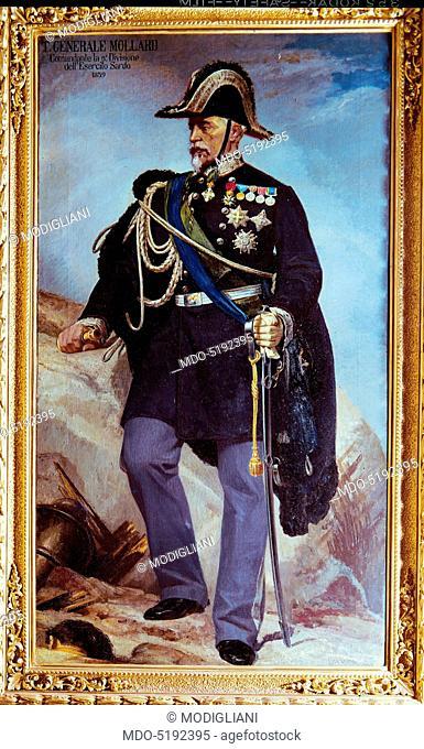 Portrait of General Filiberto Mollard (Ritratto del generale Filiberto Mollard), by Giulio Carlini, 1880, 19th Century, oil on canvas