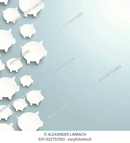 White Piggy Banks Side PiAd