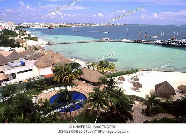Mexico, Cancun. Zone Hotels