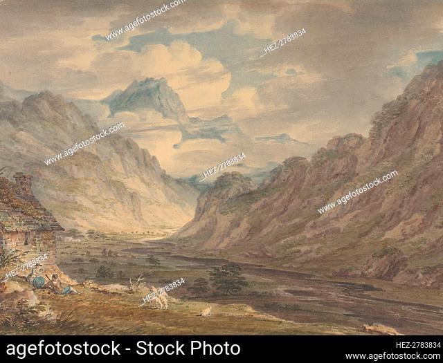 The Honister Pass from Gatesgarth Farm, Gatesgarthdale, Lake District , 1789-1804. Creator: Edward Dayes