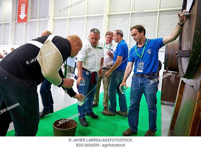 Barrels of cider. Dining room for 1,500 people. Ficoba, Basque Coast International Fair. Irun. Gipuzkoa. Basque Country. Spain