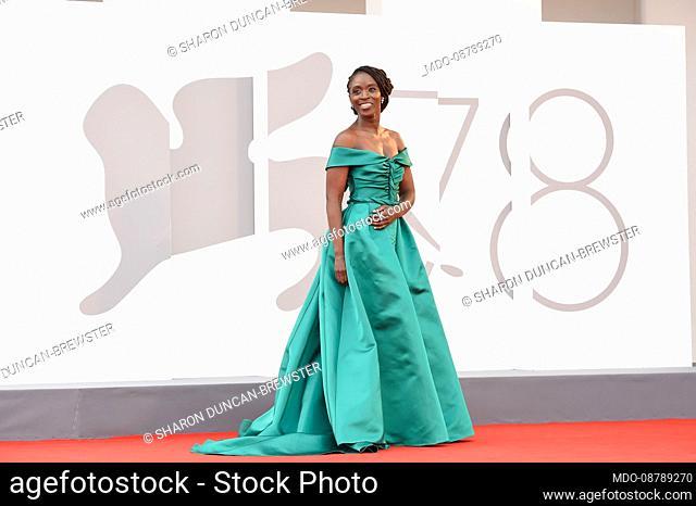 British actress Sharon Duncan-Brewster at the 78 Venice International Film Festival 2021. Dune red carpet. Venice (Italy), September 3rd, 2021