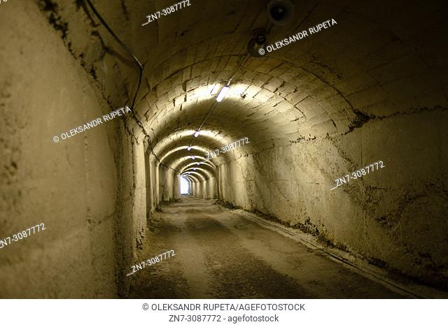 Tunnel to the antinuclear bunker in Tirana, Albania