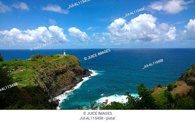Kilauea Point with Kilauea Lighthouse, Kaua'i, Hawaii, USA
