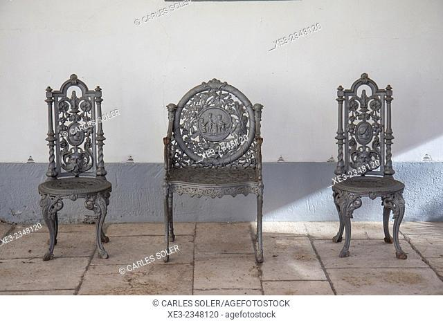 Sillas de hierro forjado, Aranjuez