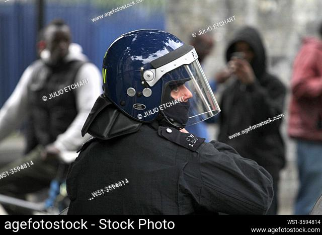 Damaged caused by rioters in Hackney, London, UK. Photo by Julio Etchart