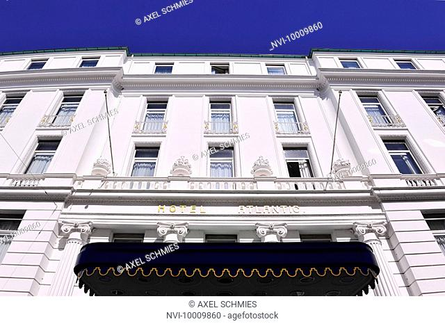 Magnificent facade of the GRAND HOTEL ATLANTIC, ST. GEORG, Hanseatic City of Hamburg, Germany, Europe