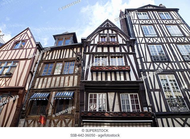 France, Normandy, Rouen, Typical Shop Facades