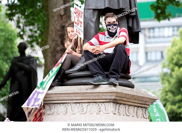 The People's Assembly Anti-Austerity March in Central London Featuring: Atmosphere Where: London, United Kingdom When: 20 Jun 2015 Credit: Mario Mitsis/WENN
