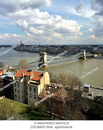 View of Danube from Buda's Castle Hill, Budapest