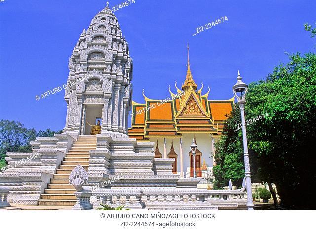 Royal Palace, 1860s. Phnom Penh, Cambodia
