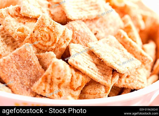 cinnamon cereal in bowl