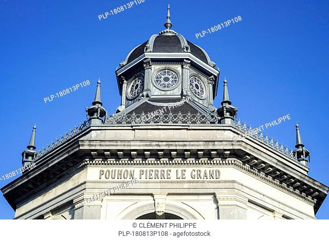 Pouhon Pierre le Grand / Peter The Great housing healing spring in the city Spa, Liège, Belgium