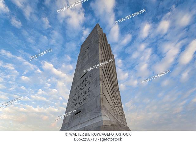 USA, North Carolina, Kill Devil Hills, Wright Brothers National Memorial, Wright Brothers Monument, dawn