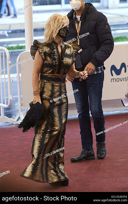 Eugenia Martinez de Irujo attended 'Oso' Red Carpet during 68th San Sebastian International Film Festival at Kursaal Palace on September 25